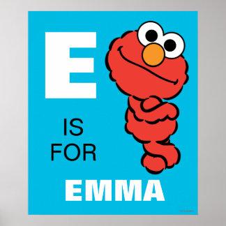 E está para Elmo Póster