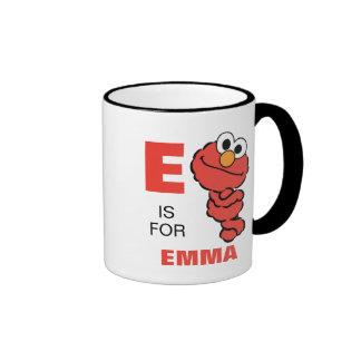 E está para Elmo Taza De Dos Colores