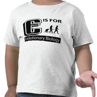 E está para la biología evolutiva camiseta