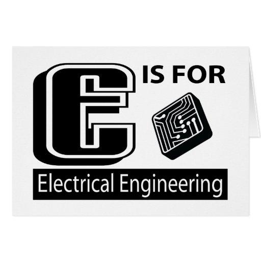 E está para la ingeniería eléctrica felicitacion
