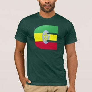 E (Ethiopia) Monogram Flag T-Shirt