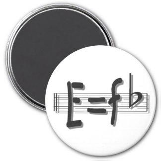 E=F flat 3 Inch Round Magnet