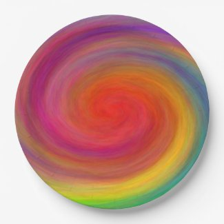 E.G.A.D.S. - I See Rainbows Paper Plate