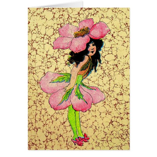 E Gordon Flower Fairies Wild Rose Fairy M.T Ross Greeting Card