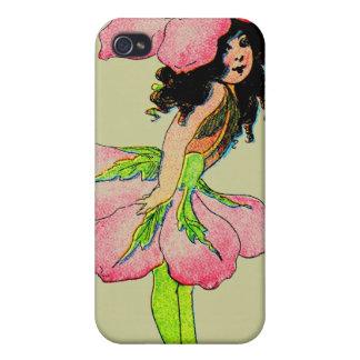 E Gordon Flower Fairies Wild Rose Fairy M.T Ross Cover For iPhone 4