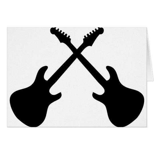 E Guitars Crossed Card