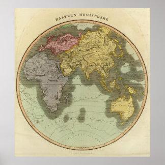 E Hemisphere Poster