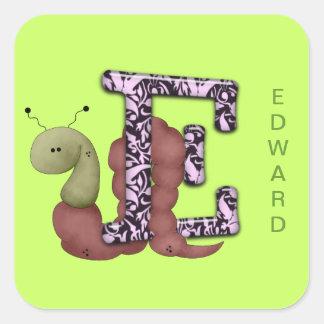 E Inchorm Square Sticker