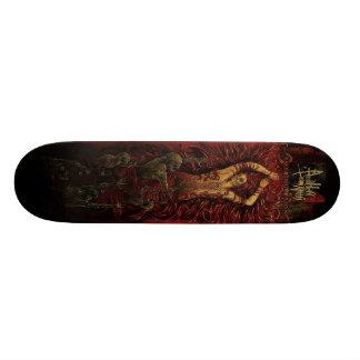 E INFIERNO SEGUIDO CON cubierta de la orientación  Skateboard