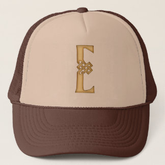 E Initial-Branded Personalised Fashion Hat