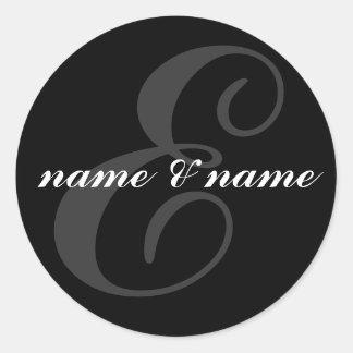 E initial label