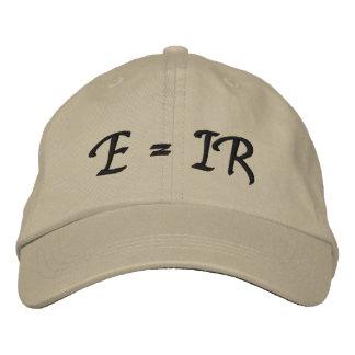 E = IR EMBROIDERED BASEBALL HAT