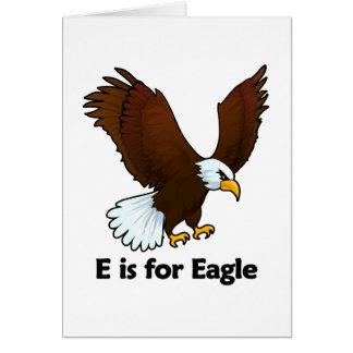 E is for Eagle Card