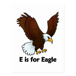 E is for Eagle Postcard