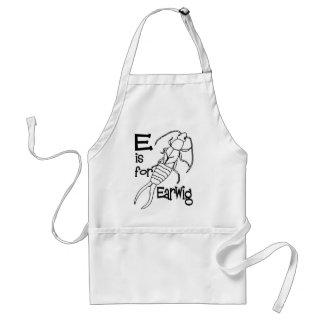 e is for earwig.jpg adult apron