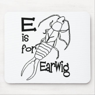 e is for earwig.jpg mouse pad