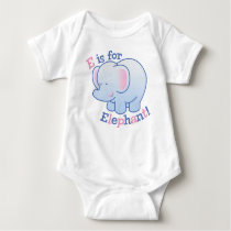 E Is for Elephant Baby Bodysuit
