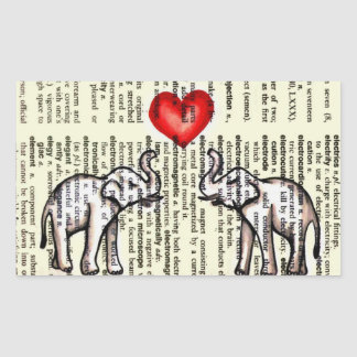 E is for Elephant Dictionary Page (K.Turnbull Art) Rectangular Sticker