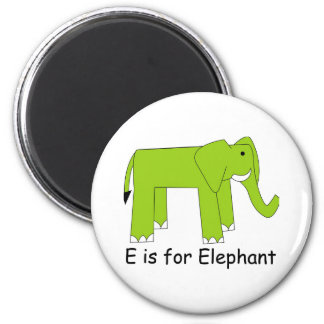 E is for Elephant 2 Inch Round Magnet