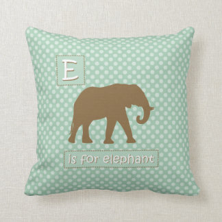 """E"" is for Elephant Pillow"