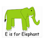 E is for Elephant Post Cards