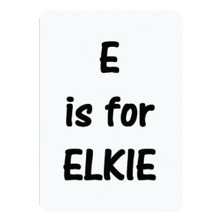 e is for elkie card