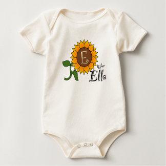 E is for Ella Sunflower T Shirt