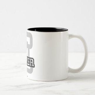E is for Elmer Two-Tone Coffee Mug