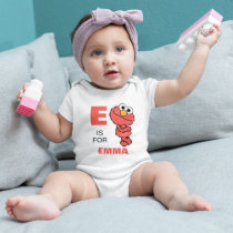 E is for Elmo | Add Your Name Baby Bodysuit