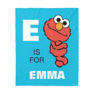 E is for Elmo | Add Your Name Fleece Blanket