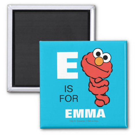 E is for Elmo | Add Your Name Magnet