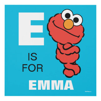 E is for Elmo | Add Your Name Panel Wall Art