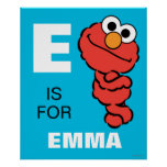 E is for Elmo | Add Your Name Poster