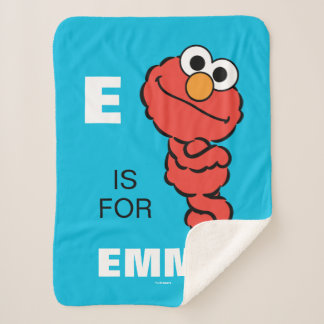 E is for Elmo | Add Your Name Sherpa Blanket