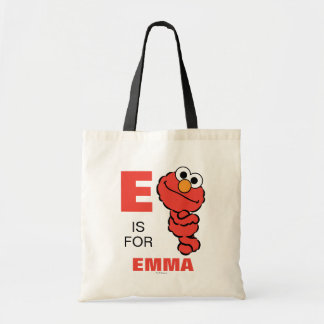 E is for Elmo | Add Your Name Tote Bag