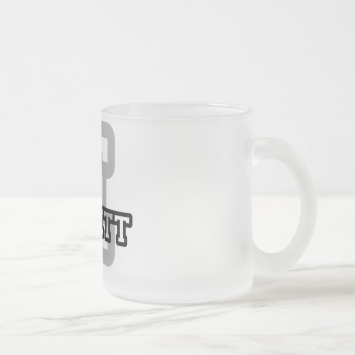 E is for Emmett Frosted Glass Coffee Mug
