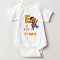 E is for Ernie   Add Your Name Baby Bodysuit