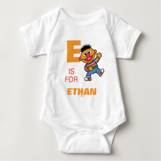 E is for Ernie | Add Your Name Baby Bodysuit