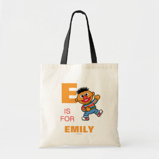 E is for Ernie | Add Your Name Tote Bag