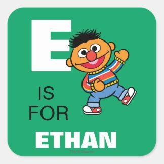 E is for Ernie Square Sticker