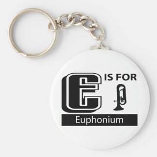 E Is For Euphonium Keychain