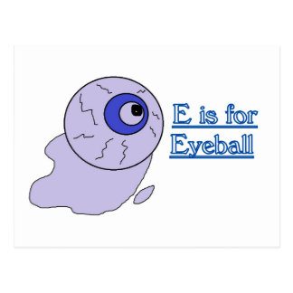 E is for Eyeball Postcard