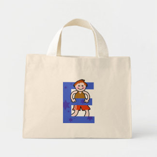 E is for mini tote bag