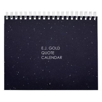 E.J Gold Quote Table Calendar
