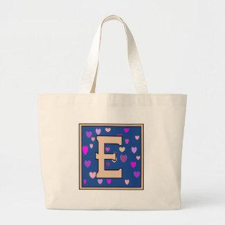 E-Just Peachy Monogram Jumbo Tote Tote Bags