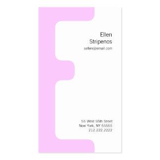 E Letter Alphabet Business Card Pink