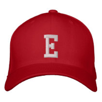 E Letter Embroidered Baseball Cap
