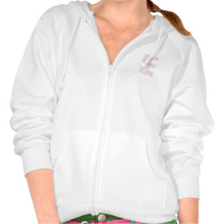 E - Low Poly Triangles - Neutral Pink Purple Gray Hoody