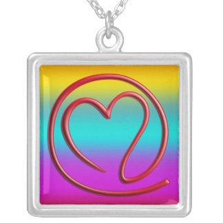 e m a i l 4 y o u | coloured linear square pendant necklace