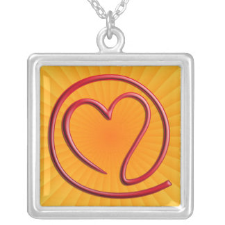 e m a i l 4 y o u | yellow radial square pendant necklace